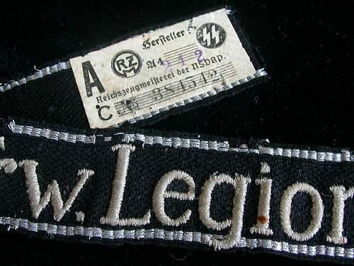 Frw.Legion Norwegen cuff title
