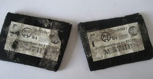 SS Totenkopf Collar tabs, opinions needed,