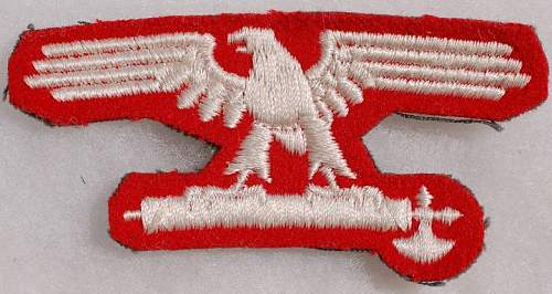 Italian manufactured Italian SS sleeve eagle with paper tag.