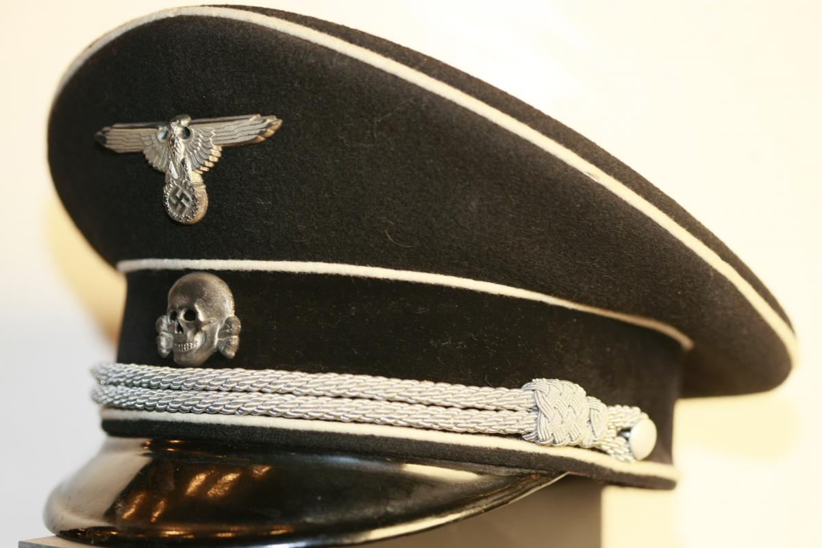 Textbook Trade In >> The textbook black SS officer's cap for sale - Page 3