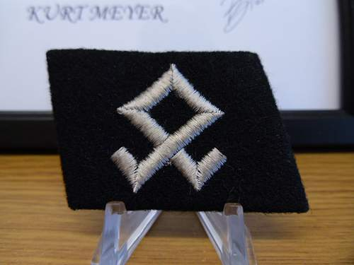 Pair SS collar tabs , last purchase of 2011