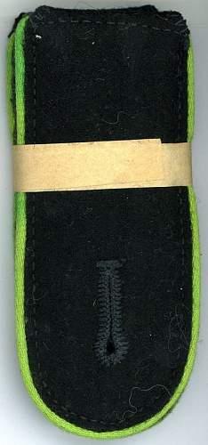 SS EM infantry & Panzer Gren. shoulder boards