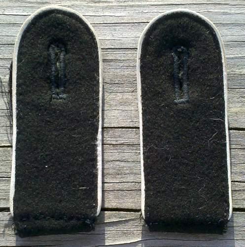 SS enlisted mans inf. shoulder boards
