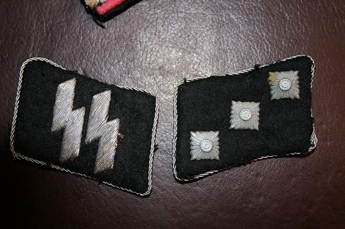 SS officers collar tabs