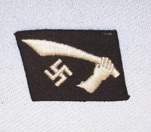 Handschar and Hungarian SS colartabs...