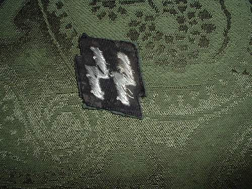 Police SS bullion rune breast patch ?