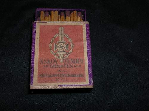 Matchboxes and holder.