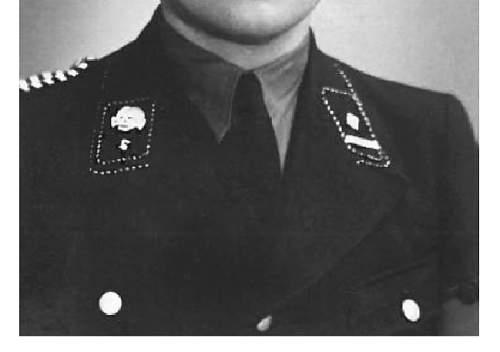SS uniform insignia -help to identify rank etc