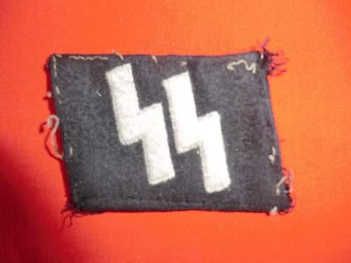 SS rune collar patch