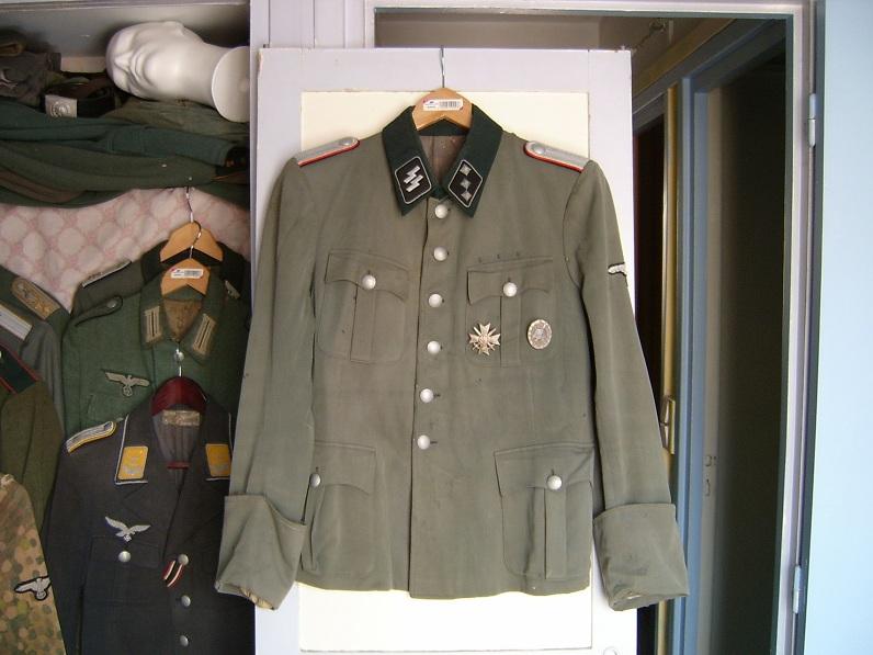 waffen ss untersturmfuhrer artillery tunic