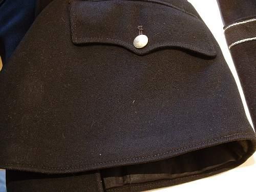 "Pair of black ""Allgemeine SS"" service trousers"
