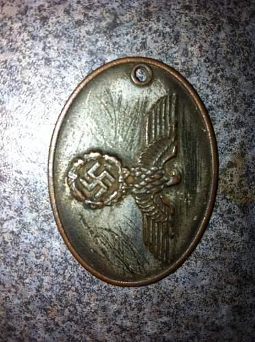 SS warrant badge