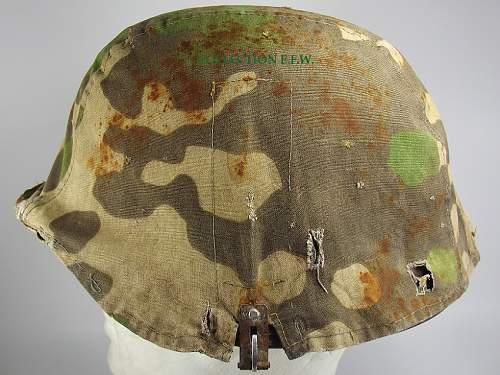 SS camo helmet cover