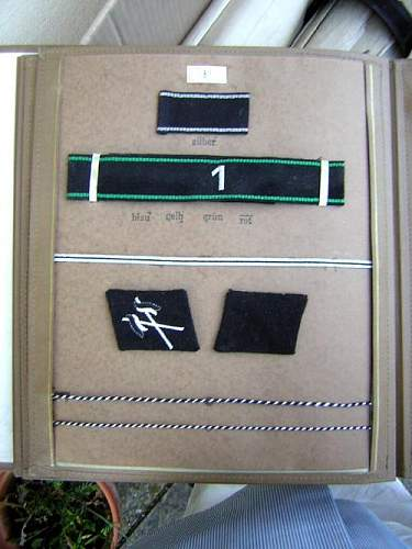 My new Waffen SS Officers collar Tab