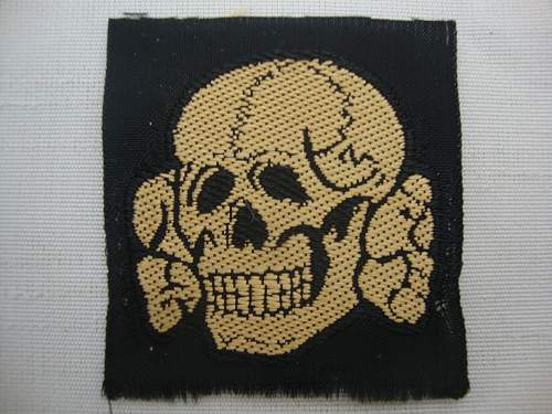 SS M41 cloth cap skull