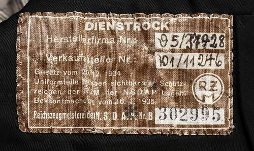 SS Hauptamt Tunic