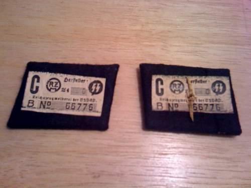 Totenkopf Collar tab set