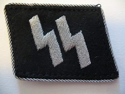 SS officer's collar tab