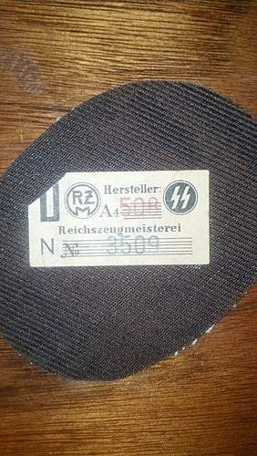SS Patch -Turkistan? RZM Tag with Number and SS, Never seen this before what do I have here?