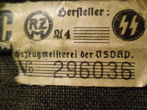 Fake Panzer SS Car Pennent / Old Fake
