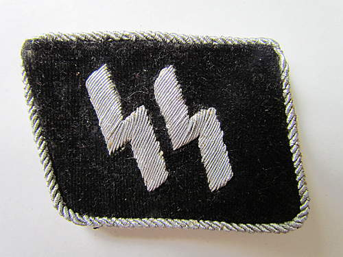 SS Officer's Runic Collar Patch - original or fake?