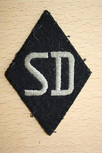 SS SD Sleeve diamond NCO real or fake?