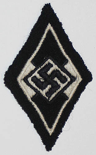 Are these ok? Cloth SS sports badge and SS/HJ Diamond.