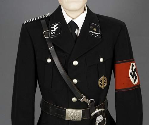 Authentic SS uniforms.