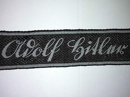 Adolf Hitler Bevo cuff title check