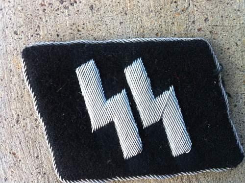 ss officer collar tab