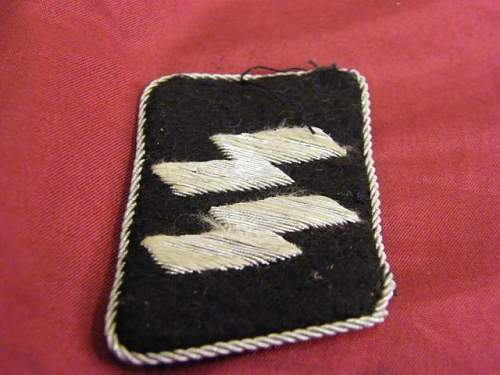 SS officers tab and NCO belt