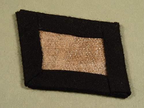 SS EM collar tab - unissued