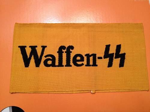 Real Waffen SS Armband?