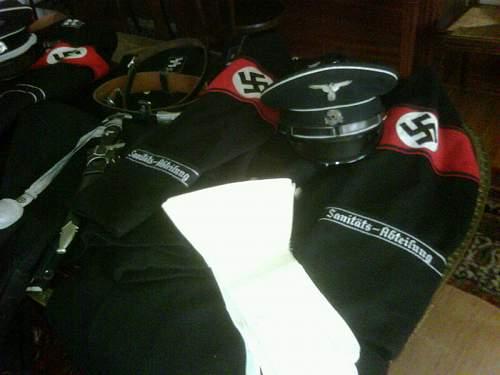 SS tunic and visor
