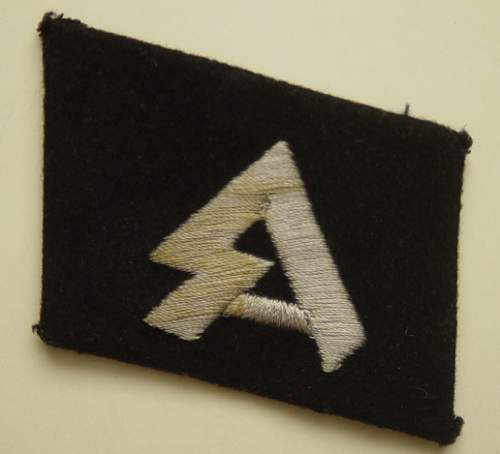 Click image for larger version.  Name:Horst Wessel Division collar tab..jpg Views:587 Size:190.7 KB ID:4054