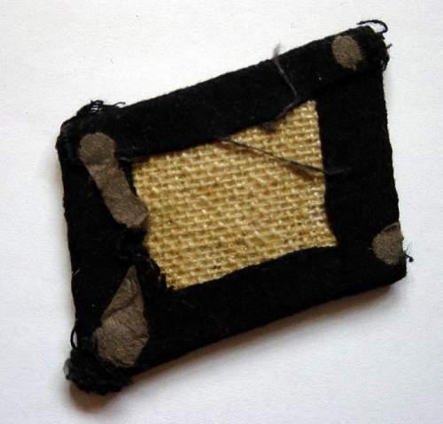 SS NCO's bullion collar tab.