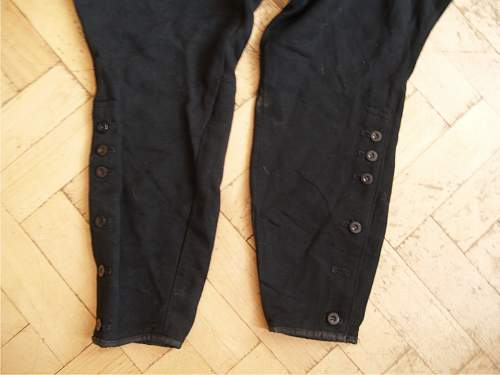 original algemeine SS black gabardine trousers