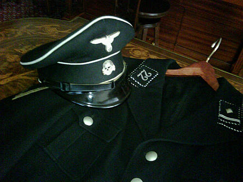 black SS regalia