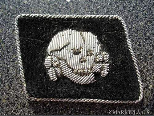 Totenkopf Officers collar tab: Fake or real?
