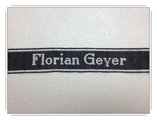 "8th SS-Kavallerie-Division ""Florian Geyer"" Cufftitle"