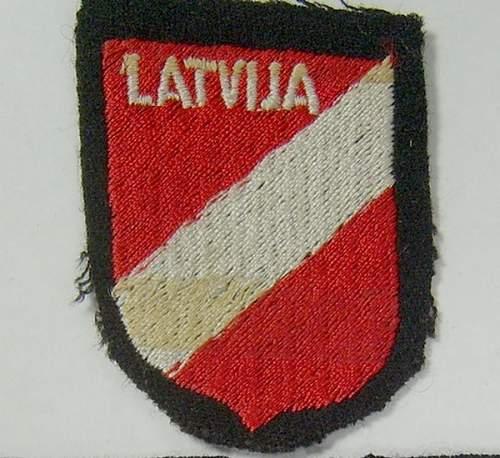 SS Lettischen Armschild