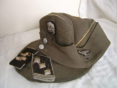 Waffen SS combat cap from Varsow
