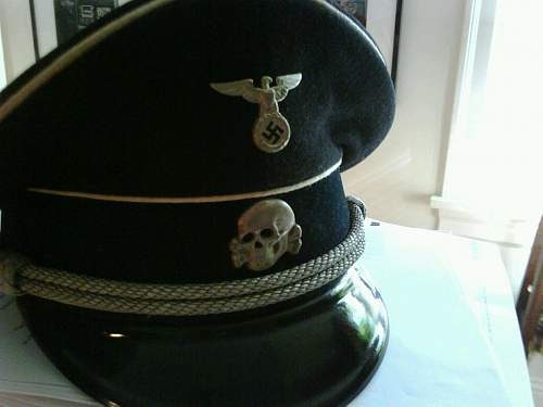 Early allg ss leather visor