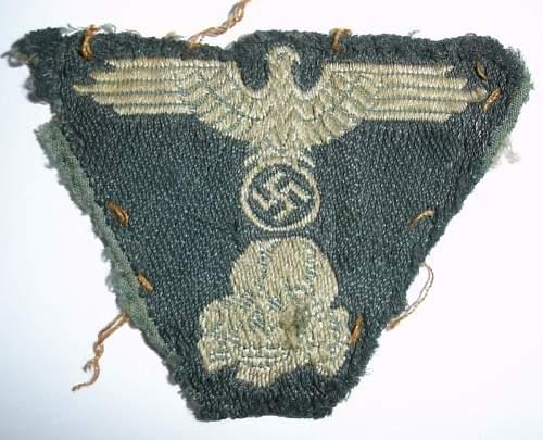 Waffen SS used M43 Trapezoid