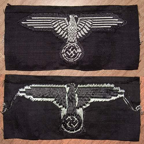 BeVo Waffen SS sleeve eagle
