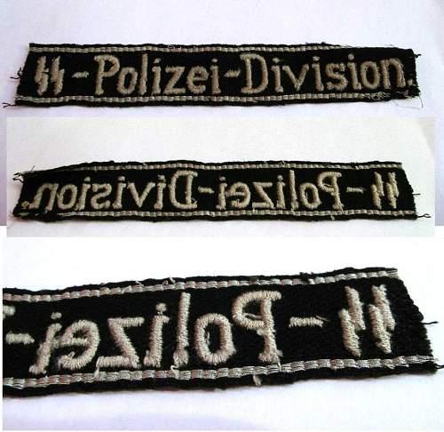 SS Polizei Cuff title