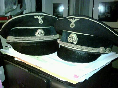 a black SS officer's cap of early make