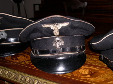 grey SS officer's cap
