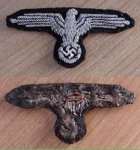 SS Officers sleeve eagle