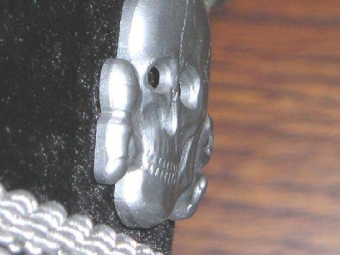 grey SS officer's cap